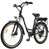 ANCHEER 26' Aluminum Electric Bike, Adults Electric Commuting Bicycle with Removable 12.5Ah Battery,...
