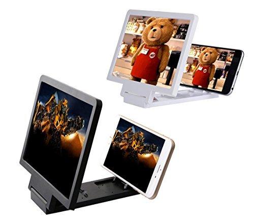 Cornice lente d'ingrandimento 7,5 pollici 3D per smartphone zoom 3x. MEDIA WAVE store (Nero)