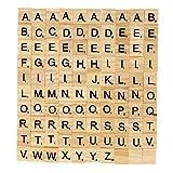 Artibetter 100 Pcs Tuiles de Lettre Jeux Lettres en Bois Lettres A-Z pour...