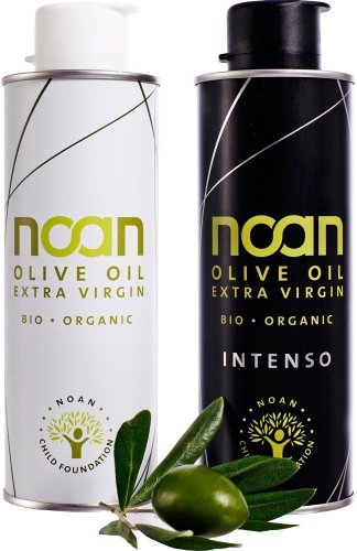 Noan Bio Olivenöl Duo-Pack, Intenso plus Pure im Geschenkkarton, 1er Pack (1 x 500 ml)