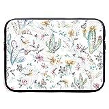 Bolsas para Laptop con Pintura de Plomo de Color Cactus, compatibles con Tableta Netbook de 15 ″, maletín con Funda, Funda para Bolso