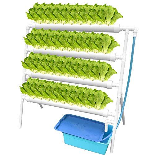 ETE ETMATE Kit de Cultivo hidropónico Sistema de Plantas hidropónicas para hortalizas, Lechuga, Flores, Frutas Pipa hidropónica de PVC para el hogar