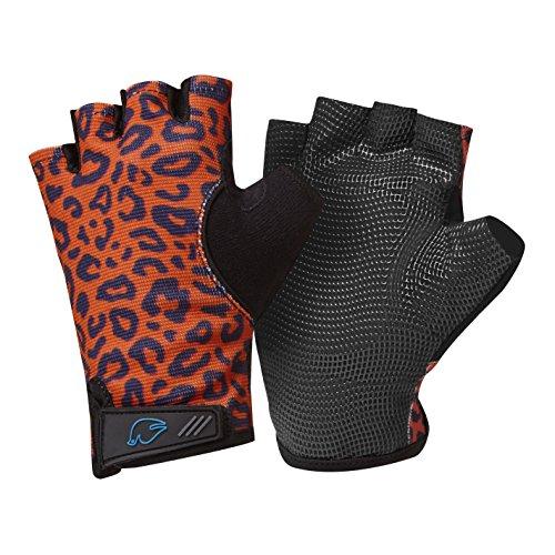 Blue Dove Yoga Donna Simla Gel Imbottito Antiscivolo Yoga Guanti Leopard-Low Wrist Strap, M
