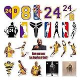 Ebay NBA Basketball Lakers No. 24 Kobe Bryant Black Mamba Kobe Sticker 24PCS