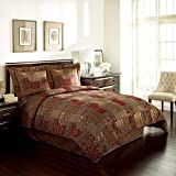 Croscill Galleria 4 Piece California King Comforter Set, Cal, Red