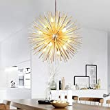 Golden Sputnik Chandelier Ceiling Light Lamp Pendant Lighting Fixture E14 Light (Dia 22-Inch)