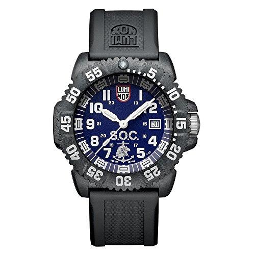 Luminox Navy Seals Uhr Herren Set Box (XS.3053.SOC.SET) Made in Schweiz, 200 Meter Wasserfeste Taucher Uhr + Bandverlängerung + Werkzeug + Gewebeband