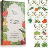 Kit de graines de légumes prêt à pousser OwnGrown, 10 légumes incontournables à planter en un set pratique, Assortiment graines légumes essentiels pour le potager