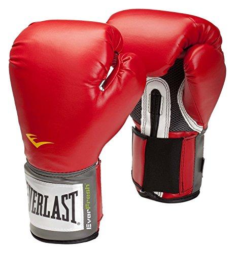 Everlast, guantes de boxeo con velcro Pro Style Trng. Guantes., Hombre, Rojo