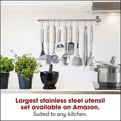 Product Image 5: HOME HERO Stainless Steel Kitchen Utensil Set - 29 Cooking Utensils - Nonstick Kitchen Utensils Cookware Set with Spatula - Best Kitchen Gadgets Kitchen Tool Set Gift