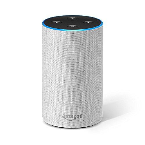 Amazon Echo (2ème génération), Enceinte connectée avec Alexa, Tissu sable