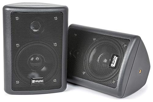 Skytronics 100.015 Black loudspeaker - loudspeakers (2.0 channels, Black)