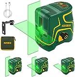 Niveau Laser, USB Charge, 45m Laser Croix Vert, Autonivellement et Mode...