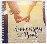 Wedding Anniversary Memory Book | A Hardcover Journal To Document Anniversaries From The 1st To the 50th Year | Unique Couple Gifts For Him & Her | Personalized Marriage Presents For Husband & Wife.