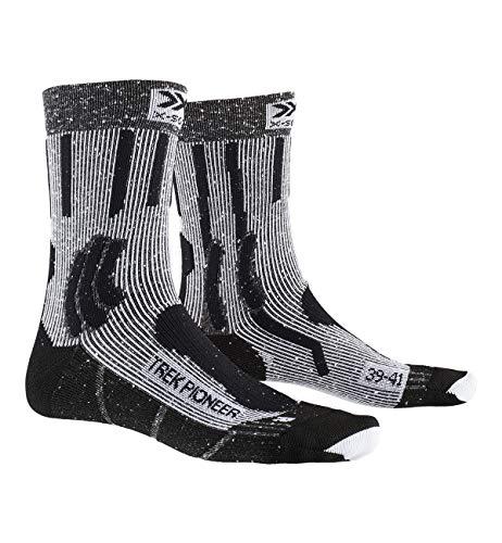 X-Socks Trek Pioneer, Calzini da Escursionismo Unisex-Adulto, Opal Black/Flocculus White, 42-44