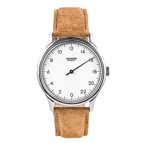 WUNDRWATCH – die 24h Einzeigeruhr für Herren mit Wechselarmbändern (Schweizer Uhrwerk | Italienisches Leder | Natostraps)