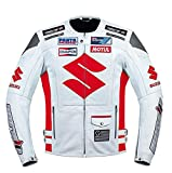 Suzuki Red Motorcycle Racing Leather Jacket (L (EU52-54))