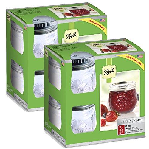 Ball Collection Elite Half-Pint 8 oz Regular Mouth Jam Jars (8-Count)