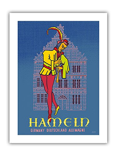 Pacifica Island Art Hameln - Poster vintage da viaggio di Sorns Hameln c.1950s - Germania (Deutschland, Allemagne) - Stampa su carta opaca di alta qualit, 61 x 81 cm