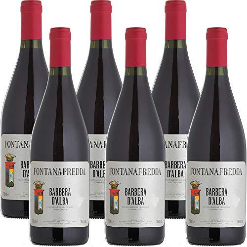 Barbera d'Alba DOC | Fontanafredda | Vino Rosso del Piemonte | 6 Bottiglie 75cl | Idea Regalo