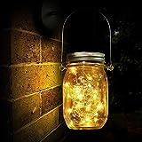 Lámpara de Decoración Solar para Jardín, Luz Solar, 30 LED, Lámpara de Ahorro de Energía e Impermeable para Interiores/Exteriores, Mesa, Festival y Lámpara de Decoración de Fiesta de Bodas (20 LED)