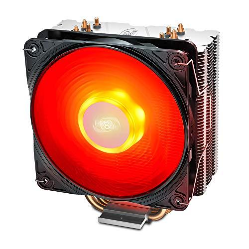 DeepCool Gammaxx 400 V2 Dissipatore di Raffreddamento 4 Heatpipes con Ventola LED Rosso PWM...