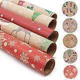 20 feuilles de papier d'emballage cadeau, papier d'emballage Santa, papier...