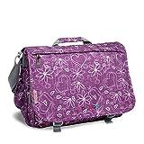J World New York Thomas Laptop Messenger Bag for Women and Girls, Love Purple, One Size