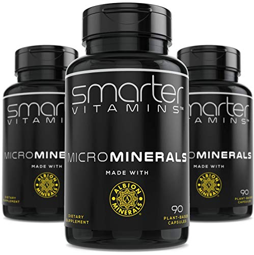 (3 Bottles) Powerful ZINC Glycinate from Albion® Boosted with 5 Extra Essential Trace Minerals to Support Metabolism, DNA and Enhanced Supplement 90 Plant-Based Vegan Capsules 1