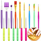 15 Pieces Cake Decorating Tool Set Cookie Decoration Brushes Cookie Scriber Needles Sugar Stir Needle for Cookie Cake Fondant Decoration Supplies