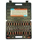 Juego de herramientas de liberación de terminales universales de 23 piezas, kit de reparación de extracción de conector de componentes electrónicos para automóviles para vehículos estadounidenses