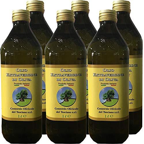 6 Litri di Olio Extravergine d'Oliva   Frantoio Fierro   Confezione 6 Bottiglie da 1 L   100% Olio Italiano   Estratto a Freddo   Idea Regalo