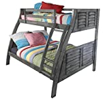Powell Furniture Easton Gray Bunk Bed,