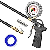 oasser Tire Inflator with Pressure Gauge 170PSI Tire Gauge Inflator Air Compressor Accessories with Brass Air Chuck Quick Connect Coupler