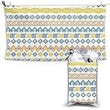 XCNGG Toallas de baño de Secado rápido Toallas de baño para el hogar Toallas Beach Fitness Lounge Chair Large Towel African Style Pattern with Tribal Motifs Quick Dry Towel 28.7 x 51 Inch