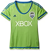 Ventilated climacool keeps you cool and dry. FORMOTION follows the natural movement of sport for a better fit and greater comfort in motion. Rounded V-neck, 100% polyester engineered. Woven Seattle Sounders crest on left chest. Heat-transfer 3-Stripe...