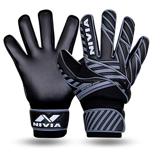 NIVIA Spider F.B G/Keeper Gloves Large Black (901BK)