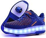 srder-USB Rechargeable Clignotante Chaussures à roulettes, 7 Colorés LED...