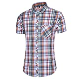 ITISME Chemise à Manches Courtes Homme Hawaï Coton Casual Décontractée à Imprimé Grande Taille Slim Fit Hommes Top Blouse