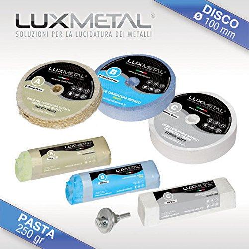 Lux Metal Kit LUCIDATURA 02/100 mm Metalli Alluminio Ferro Acciaio Inox Ottone Bronzo Rame Argento...