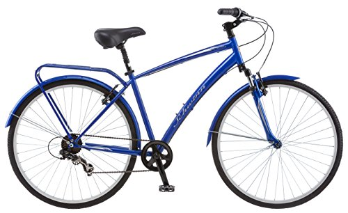 Schwinn Network Mens and Womens Hybrid Bike, 700c Wheels, 15-18-Inch Frame, 7-21-Speeds, Alloy Linear Pull Brakes, Multiple Colors