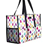Pursetti Zip-Top Organizing Utility Tote Bag with...