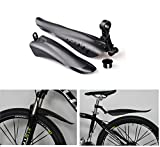 BlueSunshine Adjustable Road Mountain Bike Bicycle Cycling Tire Front/Rear Mud Guards Mudguard Fenders Set (Black)