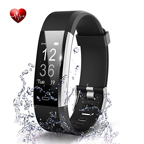Adlynlife ID117 Plus Bluetooth Smart Fitness Band Watch for Men/Women with Heart Rate Activity Tracker Waterproof Body | Steps and Calorie Counter, Blood Pressure, Distance Measure, OLED Touch Screen