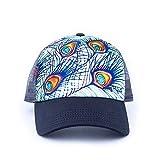 Art 4 All Abby Paffrath Strut Feathers Women's UPDO Ponytail Trucker Hat Navy