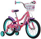 Schwinn Jasmine Girls Bike with Training Wheels, 16-Inch Wheels, Pink