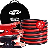 TOPDC Jumper Cables 16 Feet 6 Gauge Heavy Duty Booster Cable with Carry Bag (6AWG x 16Ft)