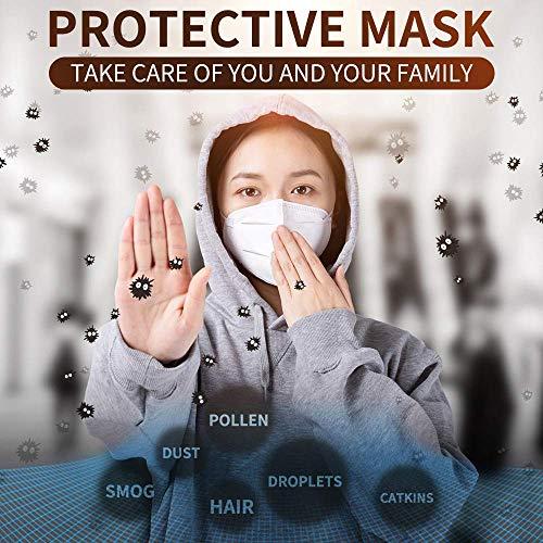 High Grade Maschera N95, maschere FFP2 Maschera con cinghia capo perfetto per Esterni Costruzione e uso quotidiano, 3M unisex dustmas lavabile