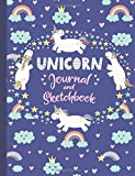Unicorn Journal and Sketchbook: Journal and Notebook for Girls - Composition Size (7.5'x9.75') With Lined and Blank Pages, Perfect for Journal, Doodling, Sketching and Notes