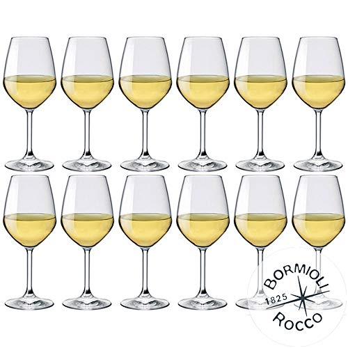 Bormioli Rocco - Set 12 Calici Vino Bianco MOD. DIVINO 44 - capacità: 44 cl.